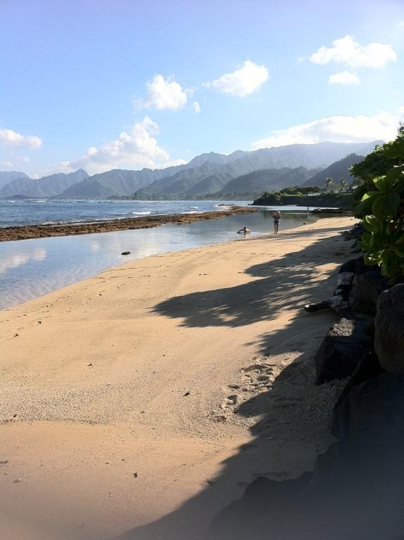 Views out front and Bath Tub Beach - Beachfront Paradise 3 br/2ba  On Beach, private wi - Laie - rentals