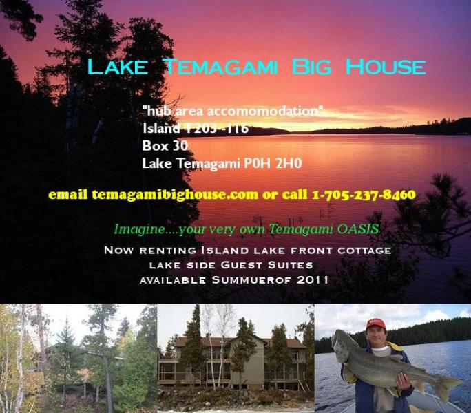 Temagmi Big House - Lake Temagami Hub Island Vacation Cottage rental - Temagami - rentals
