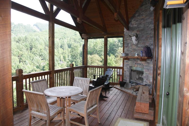 Rear deck with awesome mountian views - High Country Lodge @ Bear Lake Reserve /Mtn Resort - Tuckasegee - rentals