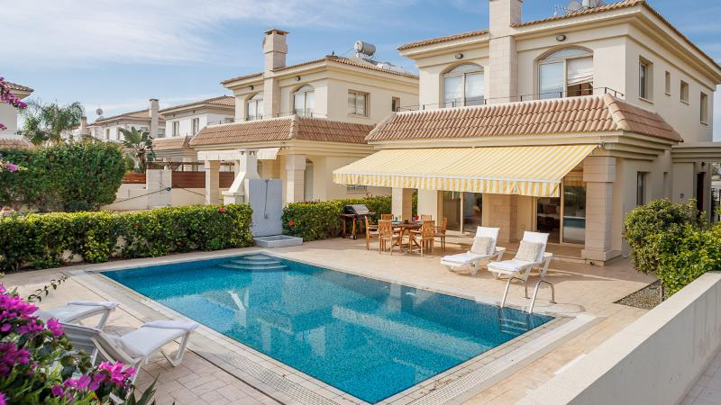 Front of the villa and pool area - Oceanview Villa 042 - breathtaking sea views - Famagusta - rentals