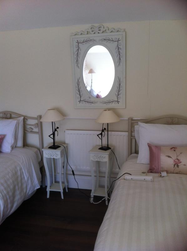 Bedroom with 2 single and 1 Double bed - Spacious 1 Bedroom Apartment to sleep 4-5 - Naas - rentals