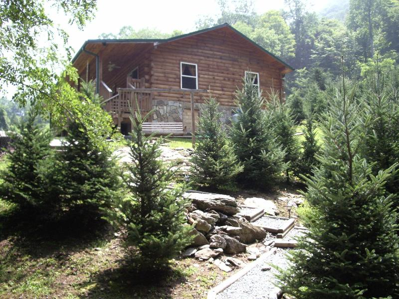 View of the home from the hot tub! - FOX RUN!  YOUR SEARCH IS OVER!!! - Bryson City - rentals