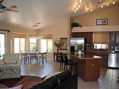 spacious open family room, nook and kitchen - GORGEOUS HOME!  Stunning views in Oro Valley gem. - Oro Valley - rentals