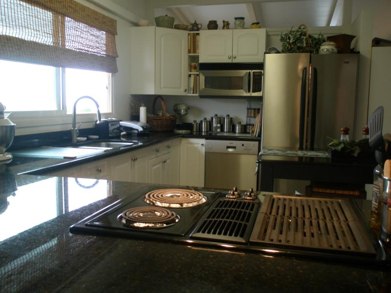 Kitchen cook top and sink area - Panoramic Diamond-head  Ocean view Spacious home - Kapolei - rentals
