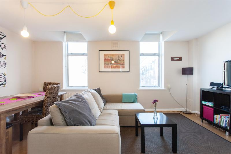 The Living Room with home entertainment system - SPECIAL OFFER Trendy spacious apartment in Angel - London - rentals