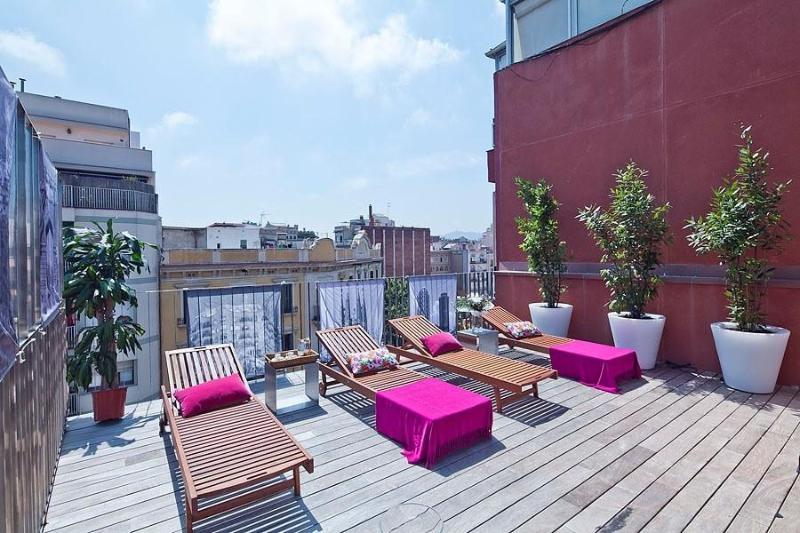 Shared terrace & pool - Arc de Triomf apartment - Barcelona - rentals