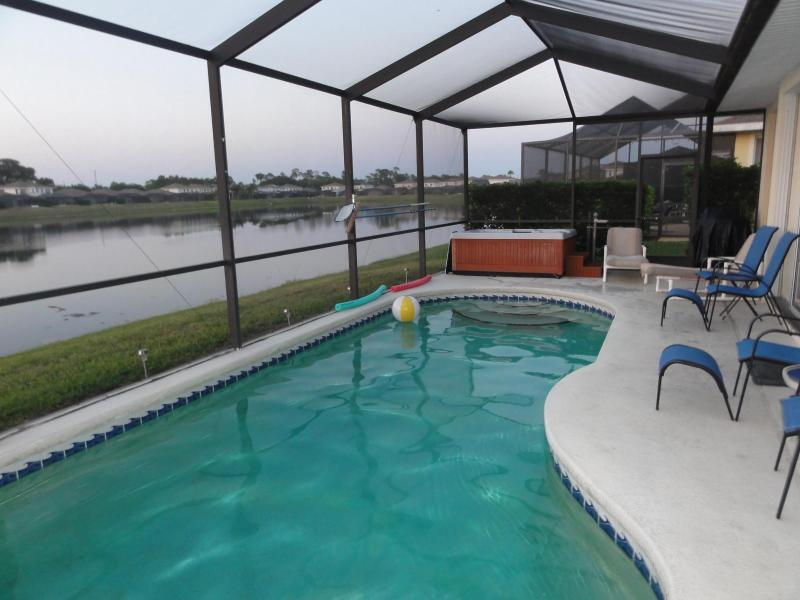Pool, Hot Tub and Lake - Sunset Vista Villa - Kissimmee - rentals