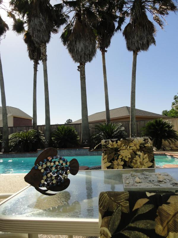 Huge Palm Trees by the Pool. - Executive Home  Tropical Pool Whimsical Features! - Houston - rentals