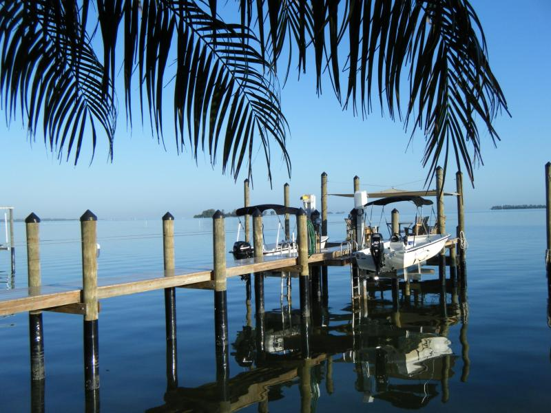 View of the Gulf View's Personal Dock - Free Personal Boat with Stunning Waterfront View - Dunedin - rentals