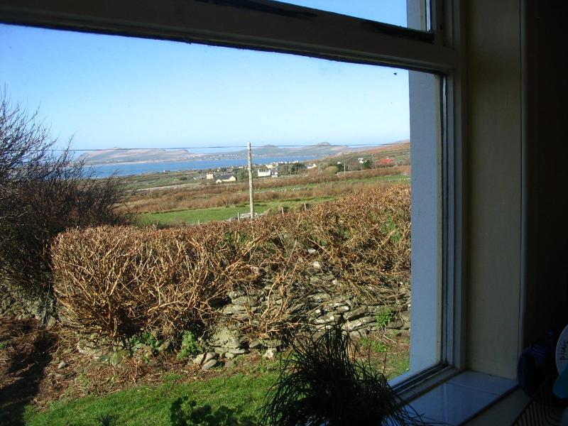 Kitchen down to village and sea - 4 bedroomed house with Atlantic Ocean views - Dingle - rentals