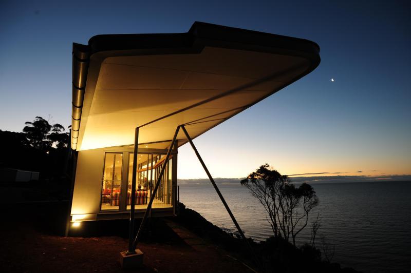 Night shot - The Winged House, Luxury Accommodation,  Tasmania - Tasmania - rentals