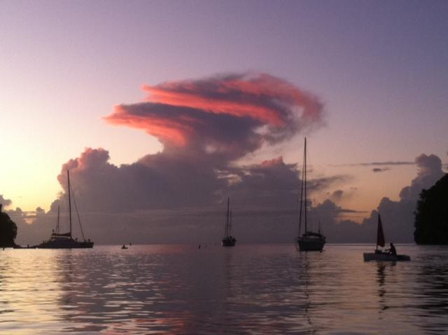 Fabulous sunsets over Marigot Bay, St Lucia - Two bedroom apartment in the heart of Marigot Bay - Marigot Bay - rentals