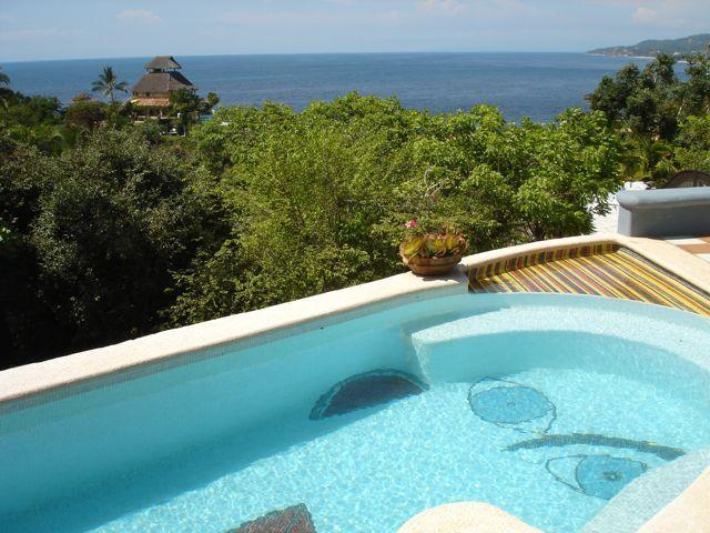 lap lane Picasso head swimming pool with incredible ocean views! - Villa PCaso,  amazing views from heated pool! - Sayulita - rentals