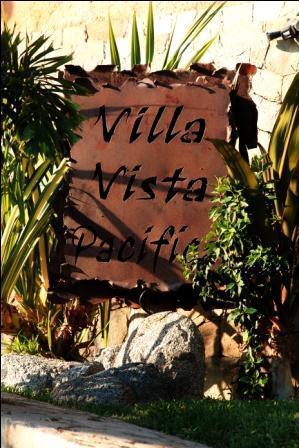 Entrance sign to Villa Vista Pacifica - Luxury Villa Overlooking Pacific Ocean - Cabo San Lucas - rentals
