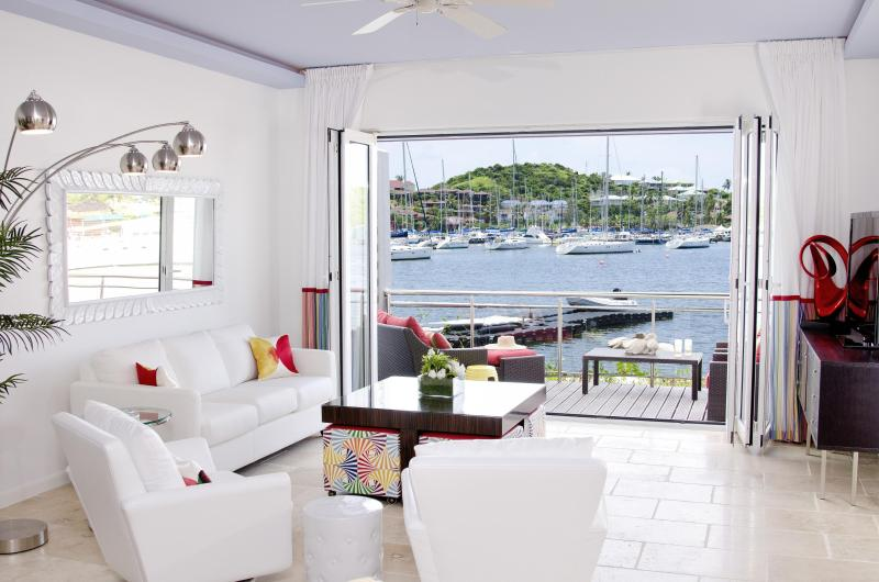 View from Living Room to marina - PRIVATE WATERFRONT HOME - DISCOUNTS AVAILABLE - Philipsburg - rentals