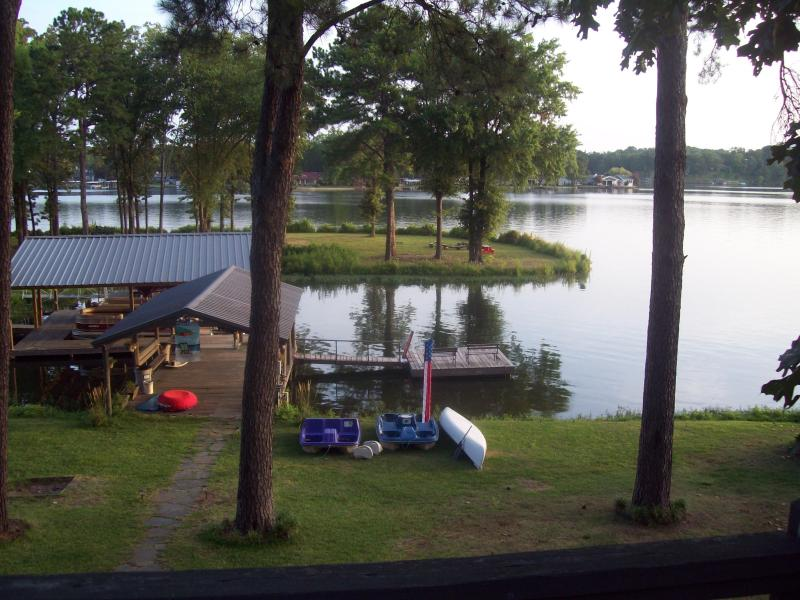view from patio - Fantasy Island: Play volley ball, horseshoes, fish - Hot Springs - rentals