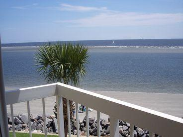 View from 3 bedroom balcony - King & Prince South Beach Villa - Saint Simons Island - rentals