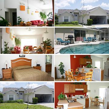 Photo Montage - Excellent, Modern 3 bed villa with pool: DISNEY - Clermont - rentals