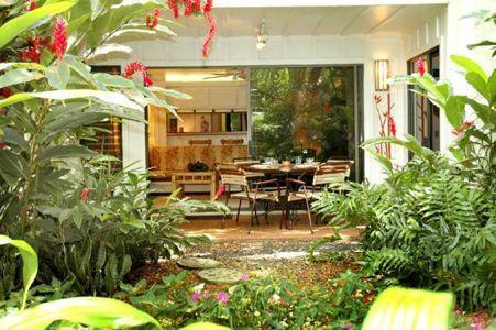 Outside Looking In to Lanai & Living Room - Poipu Beach, Kauai, Hawaii, Lush Garden Setting - Poipu - rentals