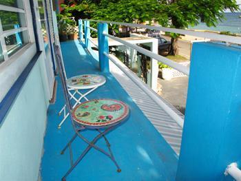 The  balcony - Guayacan Oceanfront Apartment II - Isla de Vieques - rentals