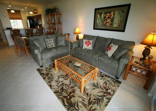 Large View of Living and dining room - FALL SPECIAL 5TH NIGHT FREE-Tommy Bahama Luxury Style Condo - Waikoloa - rentals