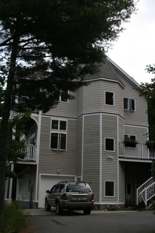 Ultra Modern Home with turret, side view of home - Sea Ledge at Sandcliff by the Sea - Bar Harbor - rentals