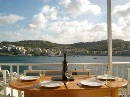 View from the Terrace of all the Bay! - Bayview Apartment with outside seaview terrace - Saint Paul's Bay - rentals