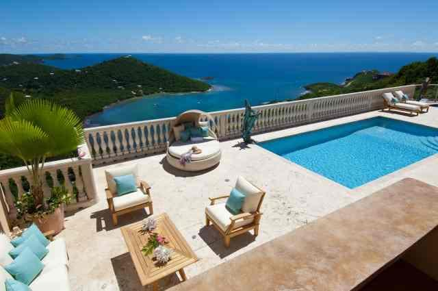 Amazing Views of ever changing colors of the ocean - Eco Serendib Villa & Spa - Pay for 6, Stay for 7! - Cruz Bay - rentals