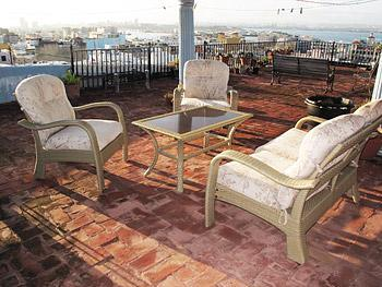 Part of Roof Top Terrace with view - High Terrace Penthouse Apartment - San Juan - rentals