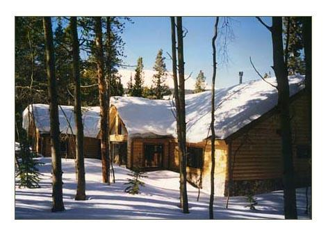 THE HOMESTEAD rear view in winter - The Homestead - Breckenridge - rentals