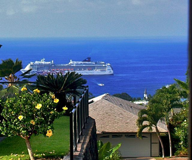 View from lanai every Wednesday - Amazing OCEAN VIEW 2 BR Kailua-Kona (K4-MAL-396) - Kailua-Kona - rentals