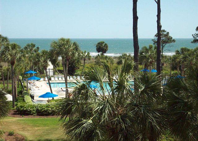 View From the Balcony - Shorewood 332 - Oceanview 3rd Floor Condo - Hilton Head - rentals