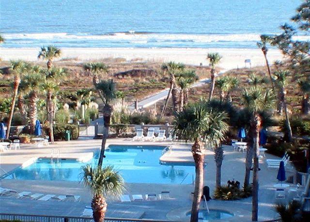 Shorewood 537 View of Ocean & Pool - Shorewood 537 - Oceanview 5th Floor Condo - Hilton Head - rentals