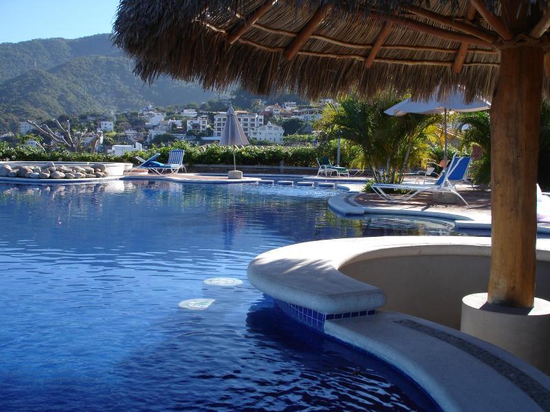 Heated ocean view infinity pool with new salt-water system - Top Flipkey Rental!  Zona Romantica Sweet Suite - Puerto Vallarta - rentals