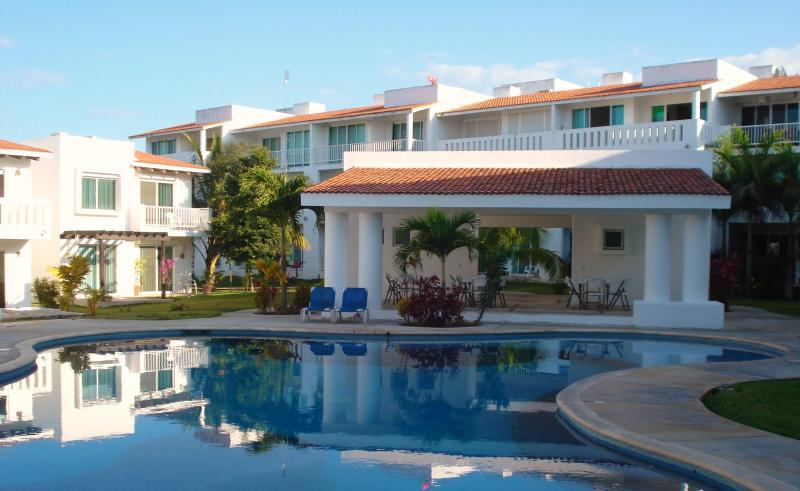 View from the main pool - Beautiful 2 Bed Condo Playa del Carmen - Playacar - Playa del Carmen - rentals