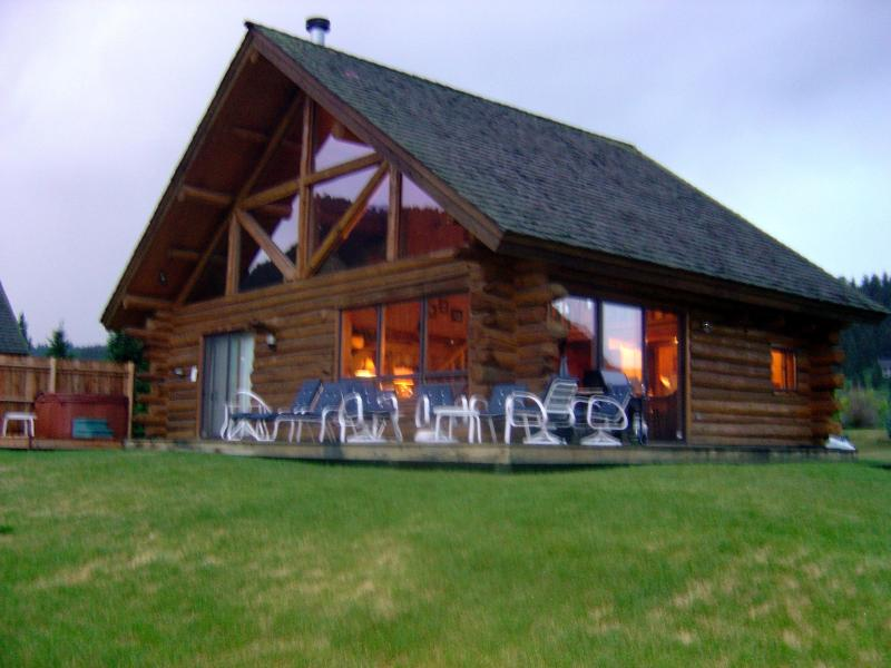 Cabin - outside deck - Luxury Home on the Gallatin - Great Mountain Views - Big Sky - rentals