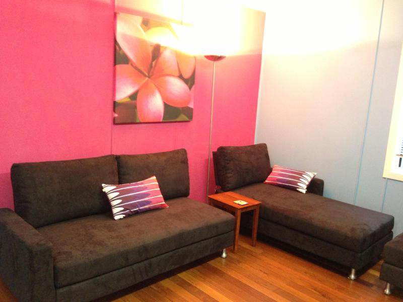 King Furniture Modular Lounges in all flats - Frangipani Beachside Flats at Nth Haven, NSW - North Haven - rentals