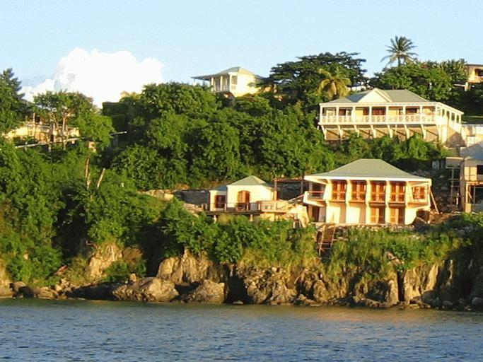 Cliffside Dwelling with Guest Suite (left) - Enjoy the Watefront Views from this Pelican Perch - Nevis - rentals