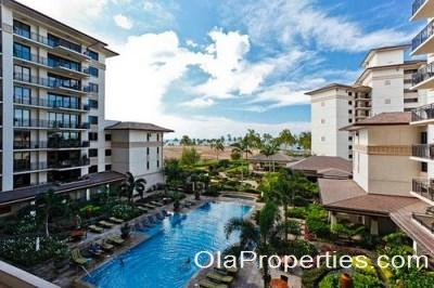 View of Lap Pool and Ocean - Beach Villas OT-402 - Kapolei - rentals