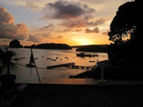 Sunset in St. Vincent. - Comfortable Luxury-Harmony Hall Resorts,St.Vincent - Kingstown - rentals