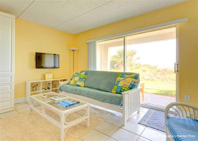 You'll find the right place to be - inside or out - Four Winds I-10 Down, Ground Floor, OceanFront HDTV Wifi - Saint Augustine - rentals
