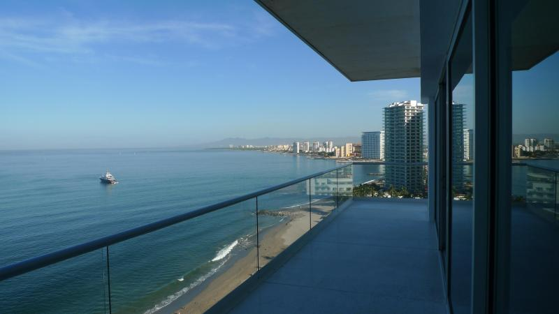 View to he north from Terrace - R&A Beach Properties Peninsula + Speed Boat rental - Puerto Vallarta - rentals