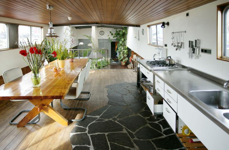 Grand Houseboat Apartment with fire place - Image 1 - Amsterdam - rentals