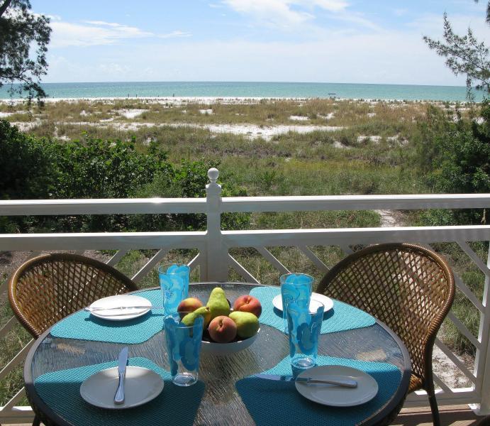 view from dinning deck - Stunning luxury newly constructed beachfront villa - Anna Maria - rentals