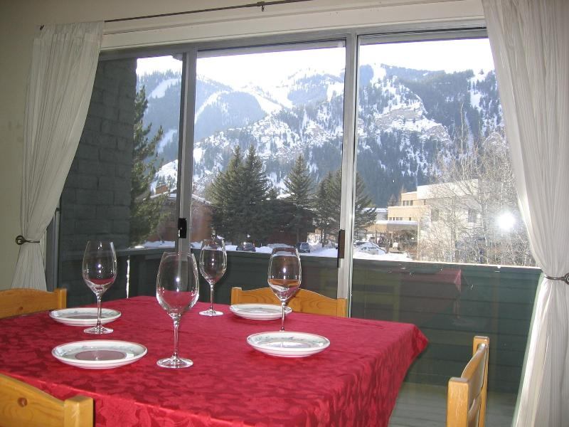 View of Baldy from Dining Area  Ketchum condo - Perfect for 1 or 2 in Downtown Ketchum - Ketchum - rentals