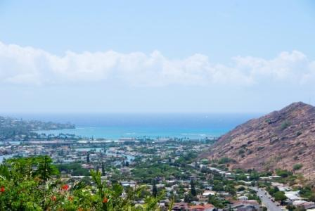 Ocean view from the cottage. You will not be disappointed - Brand New Ocean and Mountain View Cottage - Hawaii Kai - rentals