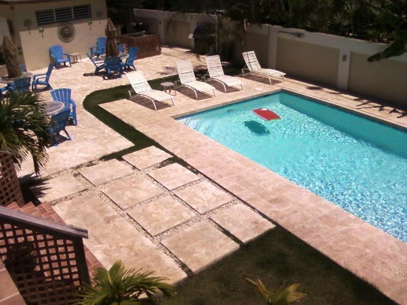 Pool view from Apt balcony - Seapearl #7 or Bonito #8 - Aguadilla - rentals