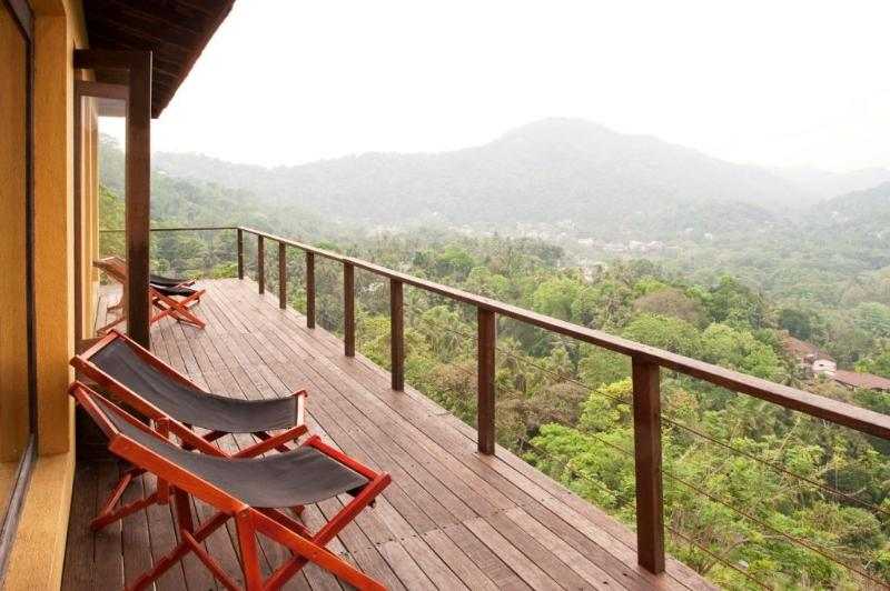 Deck with a view of the Mahaweli river valley - The Kandy House ~ Exclusive Holiday Villa - Kandy - rentals