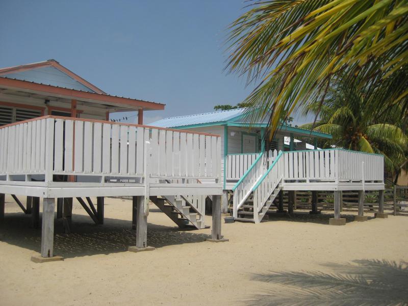 Cabanas,view from the beach - Tri Tan Beach Cabanas - Placencia - rentals