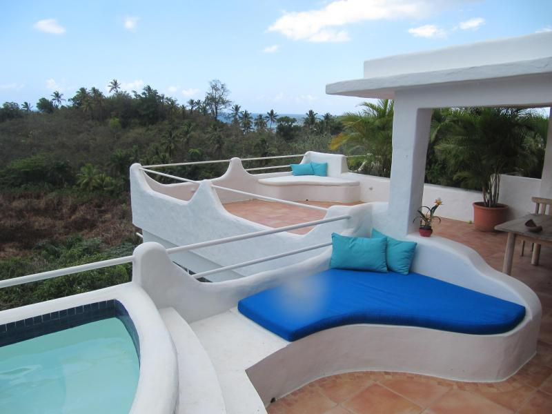 Terrace with dipping pool - Beach villa with a view! Las Terrenas DR - Las Terrenas - rentals